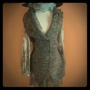 Wool knitted vest